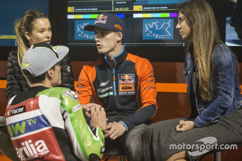 Pol Espargaro, Red Bull KTM Factory Racing, mit Aleix Espargaro, Aprilia Racing Team Gresini