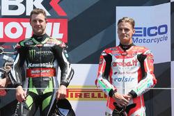 1. Jonathan Rea, Kawasaki Racing; 3. Chaz Davies, Ducati Team