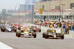 Start: Ayrton Senna, Lotus 98T Renault; Nigel Mansell, Williams FW11 Honda