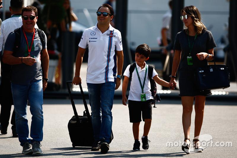 Felipe Massa, Williams con la famiglia