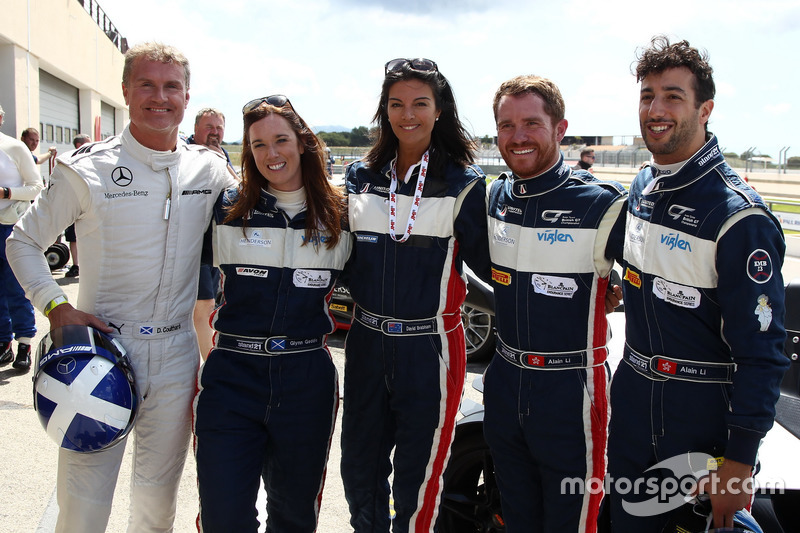 David Coulthard, Brian Vickers, Daniel Ricciardo,