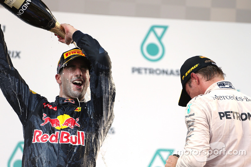 Podium: Sieger Daniel Ricciardo, Red Bull Racing