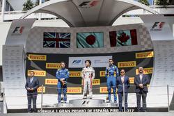 Podium: race winner Nobuharu Matsushita, ART Grand Prix, second place Oliver Rowland, DAMS, third place Nicholas Latifi, DAMS
