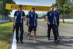 Sergio Perez, Sahara Force India walks the track