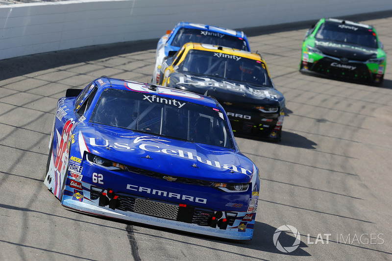 Brendan Gaughan, Richard Childress Racing Chevrolet and Brian Scott, Daniel Defense Chevrolet Camaro
