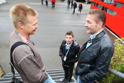 Mika Salo, with Jos Verstappen and his son Max Verstappen
