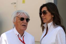 Bernie Ecclestone, mit Frau Fabiana Ecclestone