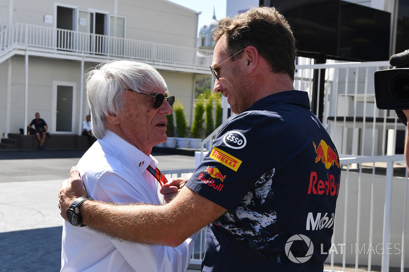 Bernie Ecclestone, Christian Horner, Red Bull Racing Team Principal