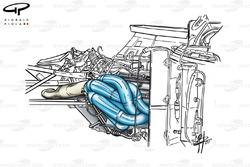 BMW P80 engine with lowline exhausts