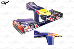 Red Bull RB9 front wing, high downforce configuration