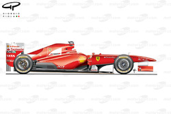 Ferrari F150 side view, launch car