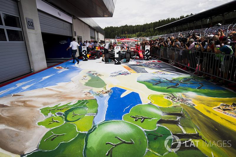 Гран При Австрии: рисунок с экстремальными видами спорта