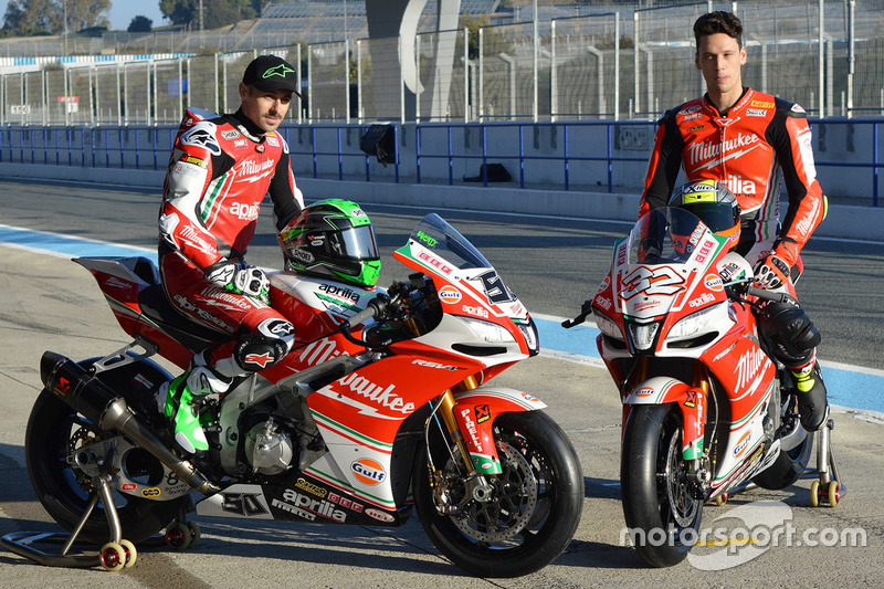 Eugene Laverty dan Lorenzo Savadori, Milwaukee Aprilia World Superbike Team