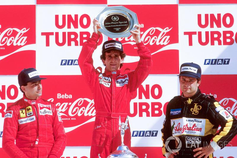 Podium: 1. Alain Prost, McLaren TAG Porsche, 2. Michele Alboreto, Ferrari, 3. Elio de Angelis, Lotus
