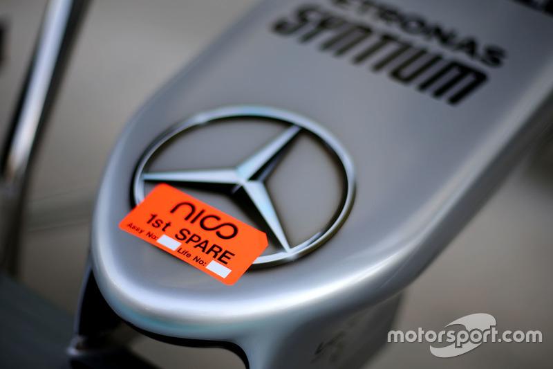 Detail: Auto von Nico rosberg, Mercedes AMG F1 W07 Hybrid