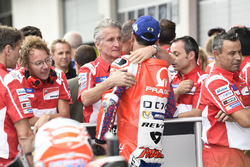 Danilo Petrucci, Pramac Racing, Paolo Ciabatti, Ducati Sporting director after qualifying