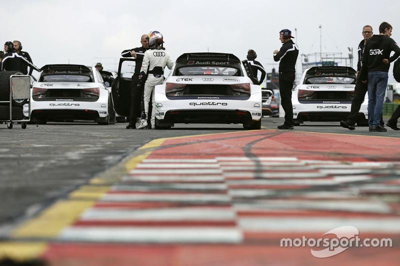 Mattias Ekström, EKS, Audi S1 EKS RX Quattro, Toomas Heikkinen, EKS, Audi S1 EKS RX Quattro, Reinis