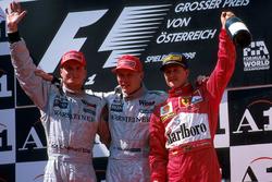 Podium: 1. Mika Hakkinen, McLaren; 2. David Coulthard, Mclaren; 3. Michael Schumacher Ferrari