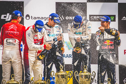 Podium: Ganadores, Ott Tänak, Martin Järveoja, Ford Fiesta WRC, M-Sport, segundos, Andreas Mikkelsen, Anders Jäger, Citroën C3 WRC, Citroën World Rally Team, terceros, Sébastien Ogier, Julien Ingrassia, Ford Fiesta WRC, M-Sport
