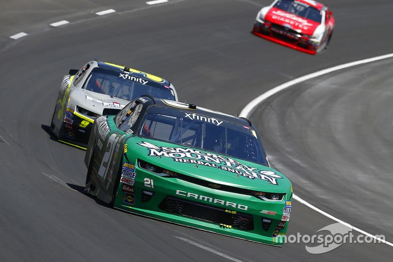 Daniel Hemric, Richard Childress Racing, Chevrolet; William Byron, JR Motorsports, Chevrolet