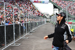 Sergio Perez, Sahara Force India F1 on the drivers parade
