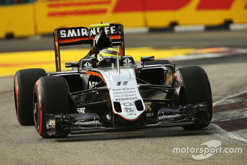 17º: Sergio Pérez, Sahara Force India F1 VJM09 (8 posiciones de penalización)