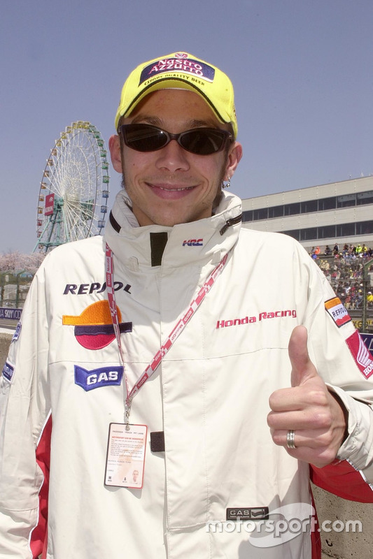 Valentino Rossi, Repsol Honda Team on the grid