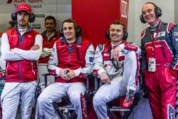 Audi Sport Team Joest Audi R18: Lucas di Grassi, Oliver Jarvis, Marcel Fassler and Dr. Wolfgang Ullrich