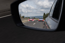 Sheik Khalid Al-Qassimi, Chris Patterson, Citroën DS3 WRC, Abu Dhabi Total World Rally Team; Thierry Neuville, Nicolas Gilsoul, Hyundai i20 WRC, Hyundai Motorsport