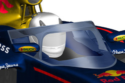 Un posible diseño futuro de un Aeroscreen semicerrado por Red Bull