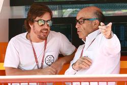 Fernando Alonso, Carmelo Ezpeleta, CEO Dorna