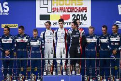Podium LMP3: Race winner #9 Graff Racing Ligier JS P3 - Nissan: Eric Trouillet, Paul Petit, Enzo Guibbert; second place #2 United Autosports Ligier JSP3 - Nissan: Alex Brundle, Mike Guasch, Christian England; third place #3 United Autosports Ligier JSP3 - Nissan: Matt Bell, Mark Patterson, Wayne Boyd