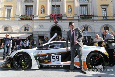 Alex Fontana e la McLaren 650S GT3 a Lugano