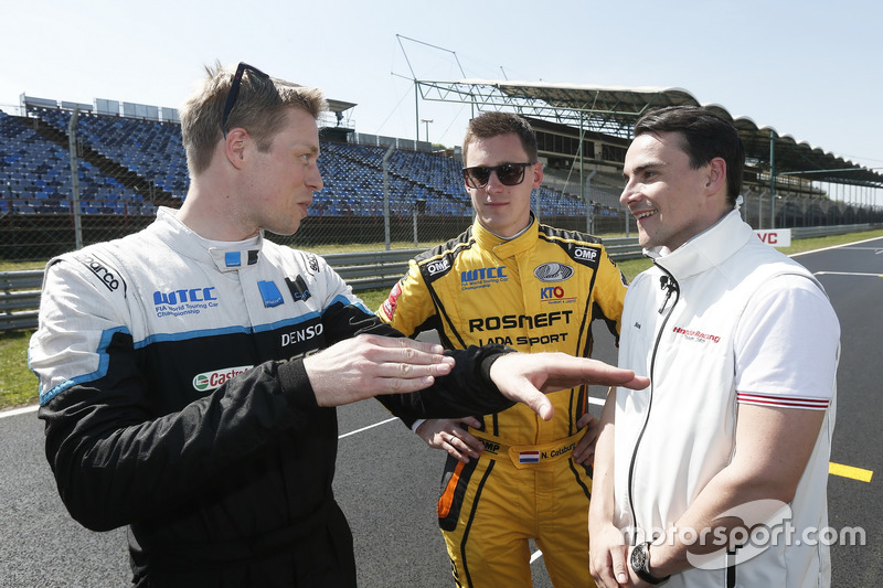 Тед Бйорк, Polestar Cyan Racing; Нікі Катсбург, LADA Sport Rosneft; Норберт Міхеліц, Honda Racing Team JAS