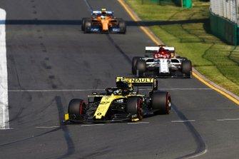 Nico Hulkenberg, Renault F1 Team R.S. 19, Kimi Raikkonen, Alfa Romeo Racing C38 y Lando Norris, McLaren MCL34