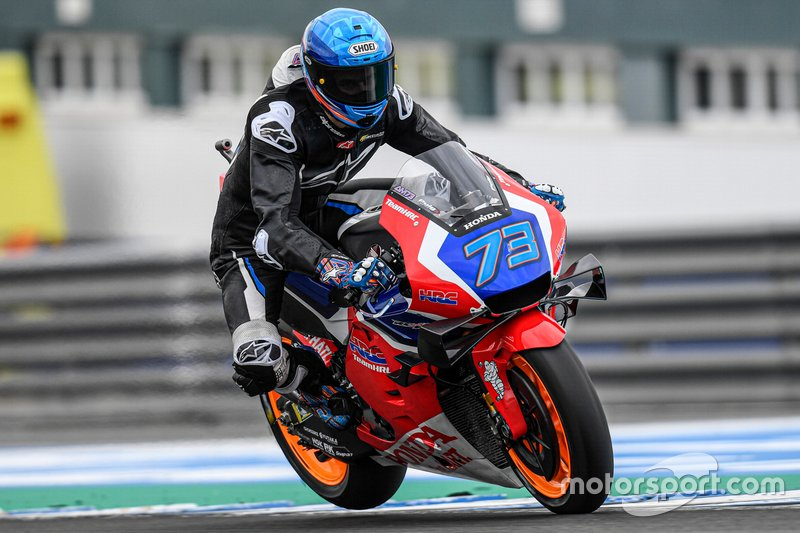 Alex Marquez, Repsol Honda Team tijdens de test in Jerez