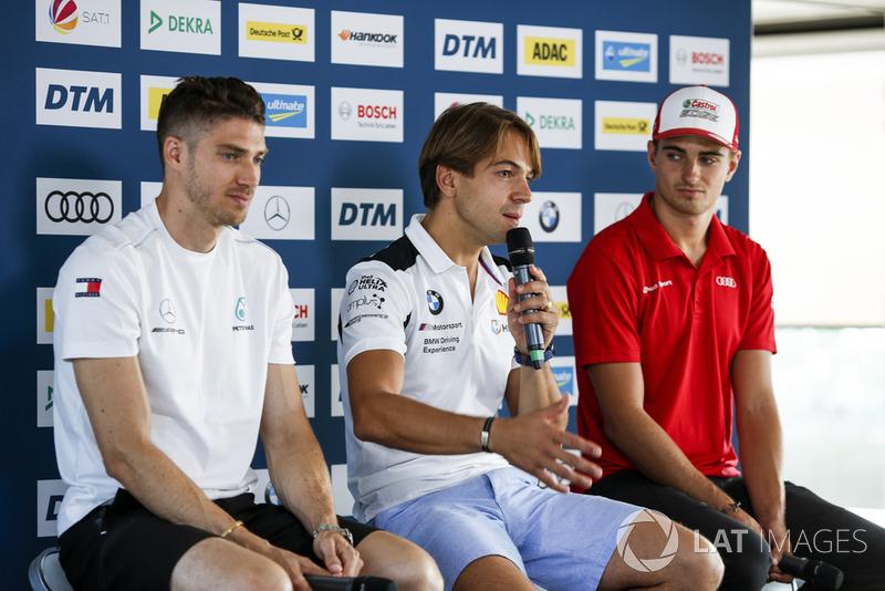 (Left to Right) Edoardo Mortara, Mercedes-AMG Team HWA, Augusto Farfus, BMW Team RMG and Nico Müller, Audi Sport Team Abt Sportsline