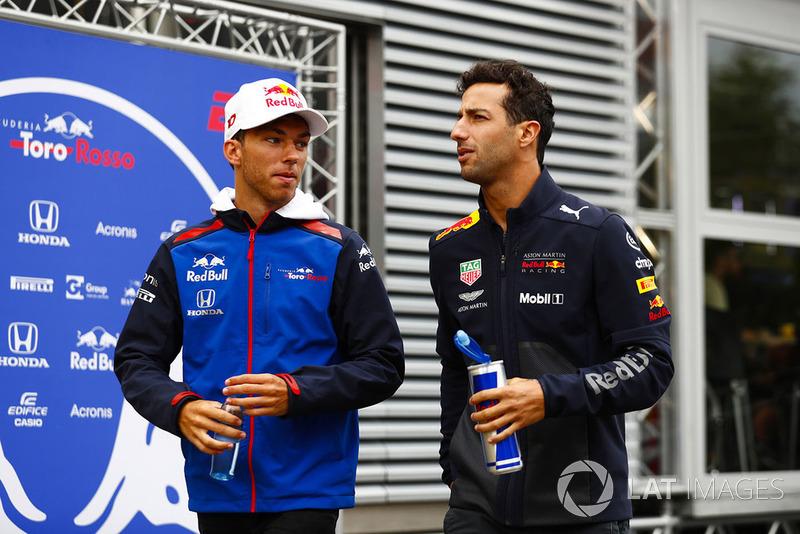 П'єр Гаслі, Toro Rosso, Даніель Ріккардо, Red Bull Racing