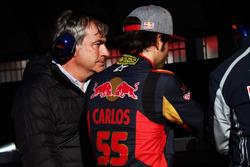 Carlos Sainz met zoon Carlos Sainz Jr., Scuderia Toro Rosso