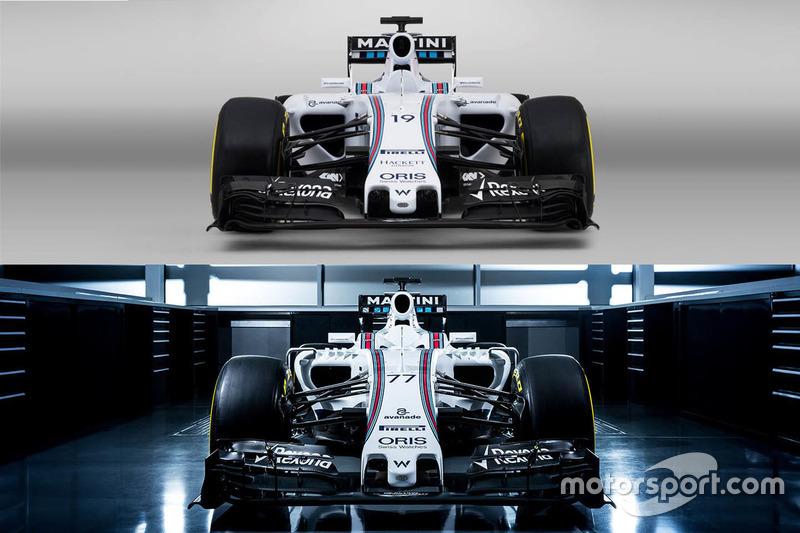 Comparação Williams FW37 e FW38