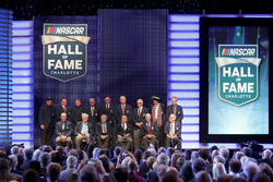 Members of the NASCAR Hall of Fame pose for a picture