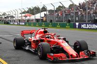 Sebastian Vettel, Ferrari SF-71H in parc ferme