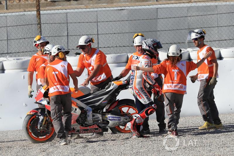 Marc Marquez, Repsol Honda Team after the crash