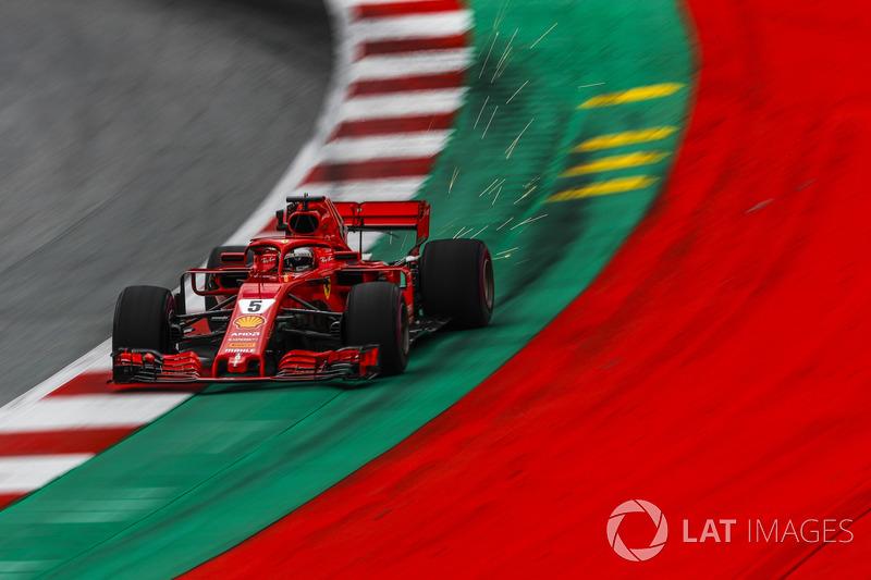 6: Sebastian Vettel, Ferrari SF71H, 1'03.464 (inc 3-place grid penalty)