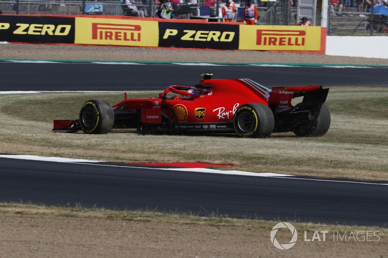 Kimi Raikkonen, Ferrari SF71H spin