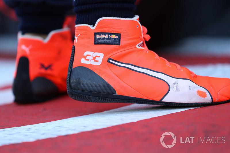 Las botas de Max Verstappen, Red Bull Racing