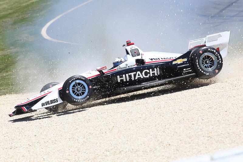 Josef Newgarden, Team Penske Chevrolet en la grava
