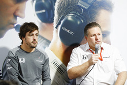 Fernando Alonso, McLaren, Zak Brown, Executive Director, McLaren Technology Group, hold a press conf