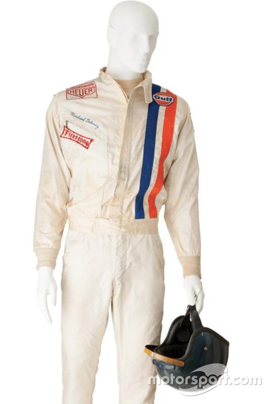 Steve McQueen helm en racepak van de film Le Mans