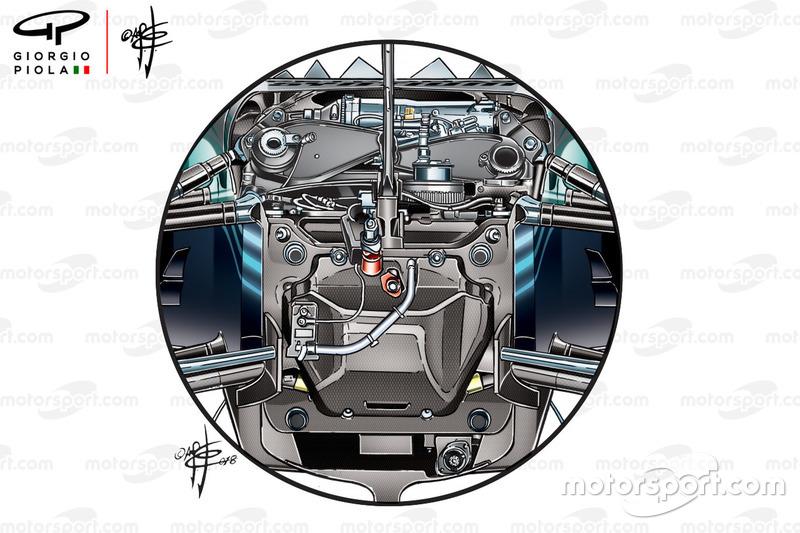 Mercedes W09, sospensione anteriore